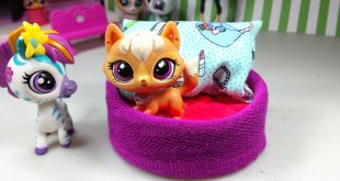 Easy-DIY-Custom-LPS-Doll-Accessories-How-to-Make-a-Tiny-Pet-Dog-Bed-Dollhouse-Furniture