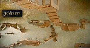 Goldtatze-Katzenzimmer-Katzen-Mbel-aus-Holz-Cat-Tree-Room